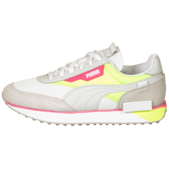 Future Rider Neon Play Sneaker Damen, hellgrau / neongrün, zoom bei OUTFITTER Online