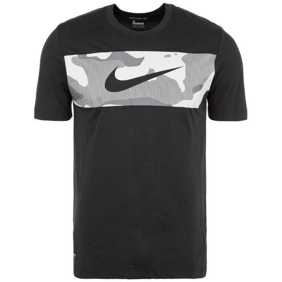 Dry Camo Trainingsshirt Herren, schwarz / grau, zoom bei OUTFITTER Online