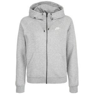 Essential Hoodie Kapuzenjacke Damen, dunkelgrau / weiß, zoom bei OUTFITTER Online