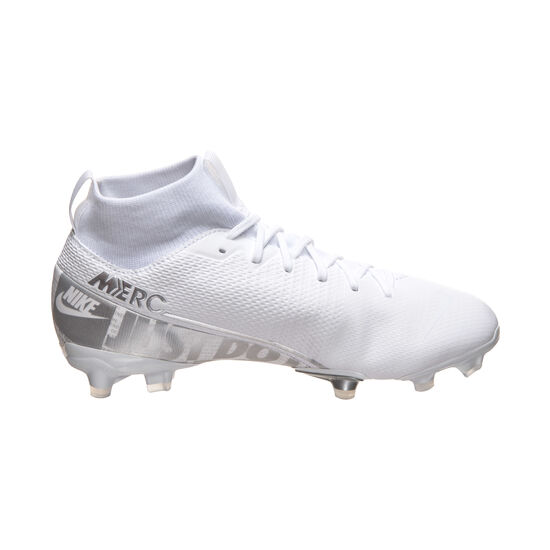 Mercurial Superfly 7 Academy MG Fußballschuh Kinder, weiß / silber, zoom bei OUTFITTER Online