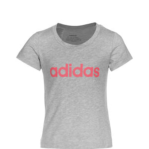 Essentials Linear T-Shirt Kinder, grau / pink, zoom bei OUTFITTER Online