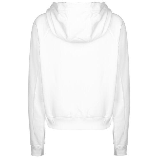 Swoosh Fleece Kapuzenpullover Damen, weiß / schwarz, zoom bei OUTFITTER Online