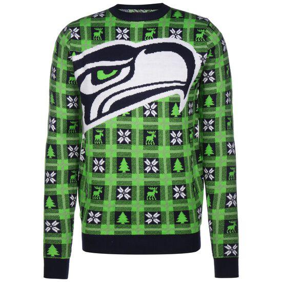 NFL Seattle Seahawks Big Logo Sweatshirt Herren, grün / weiß, zoom bei OUTFITTER Online