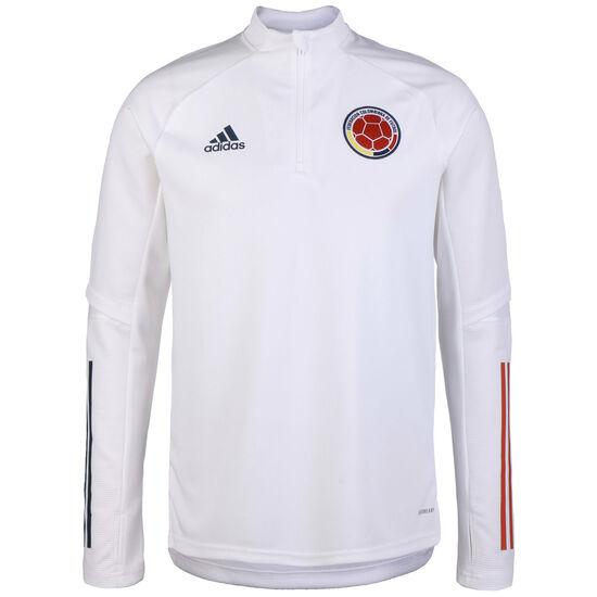 Kolumbien Trainingssweat 2020 Herren, weiß / rot, zoom bei OUTFITTER Online