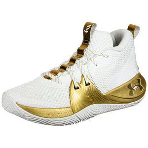 Embiid 1 Basketballschuh Herren, weiß / gold, zoom bei OUTFITTER Online