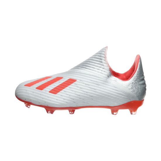 X 19+ FG Fußballschuh Kinder, silber / rot, zoom bei OUTFITTER Online
