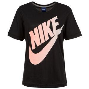 Logo Futura T-Shirt Damen, schwarz / rosa, zoom bei OUTFITTER Online