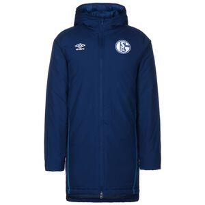 FC Schalke 04 Padded Winterjacke Herren, dunkelblau / weiß, zoom bei OUTFITTER Online