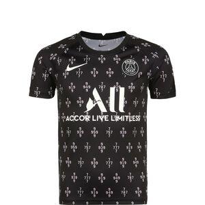 Paris St.-Germain Pre-Match Away Trainingsshirt Kinder, schwarz / rosa, zoom bei OUTFITTER Online