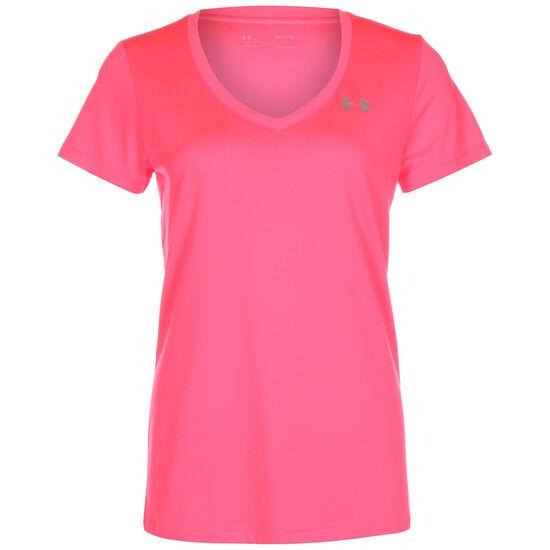 V-Neck Trainingsshirt Damen, pink / rosa, zoom bei OUTFITTER Online