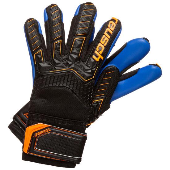 Attrakt Freegel S1 Finger Support Torwarthandschuh Kinder, schwarz / orange, zoom bei OUTFITTER Online