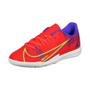 Mercurial Vapor 14 Academy Indoor Fußballschuh Kinder, neonrot / hellgrün, zoom bei OUTFITTER Online
