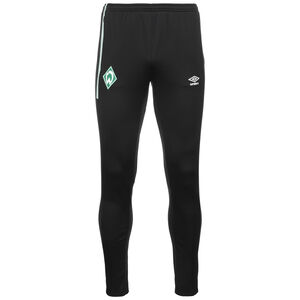 SV Werder Bremen Tapered Trainingshose Herren, schwarz / grün, zoom bei OUTFITTER Online