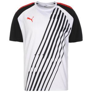 TeamLIGA Graphic Fußballtrikot Herren, weiß / rot, zoom bei OUTFITTER Online