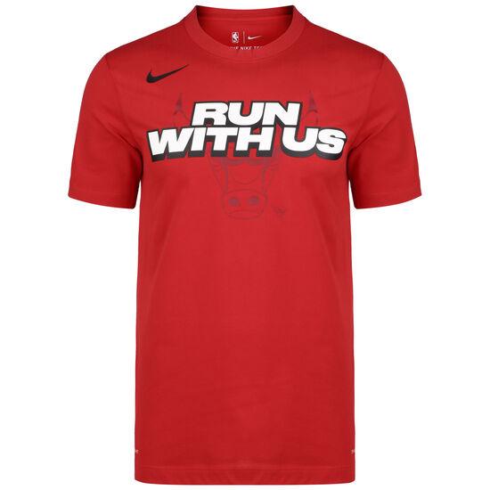 NBA Chicago Bulls Mantra Dry T-Shirt Herren, rot, zoom bei OUTFITTER Online