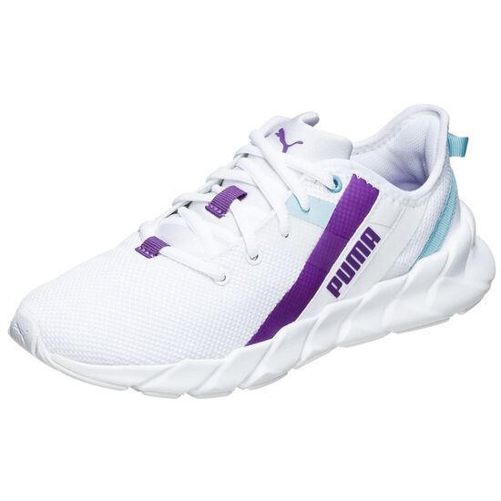 Weave XT Trainingsschuh Kinder, weiß / lila, zoom bei OUTFITTER Online
