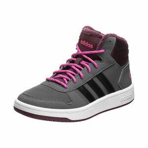 Hoops Mid 2.0 Sneaker Kinder, grau / pink, zoom bei OUTFITTER Online