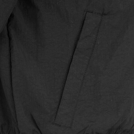 Short Striped Crinkle Track Jacke Damen, schwarz / weiß, zoom bei OUTFITTER Online