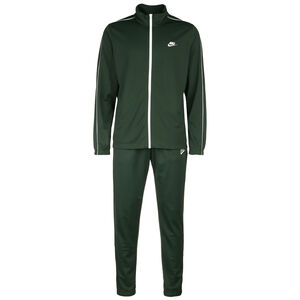 Basic Trainingsanzug Herren, dunkelgrün / weiß, zoom bei OUTFITTER Online