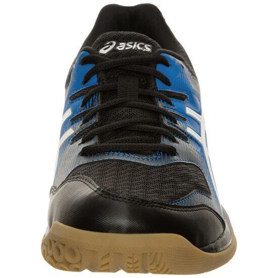 Gel-Rocket 9 Handballschuh Herren, schwarz / blau, zoom bei OUTFITTER Online