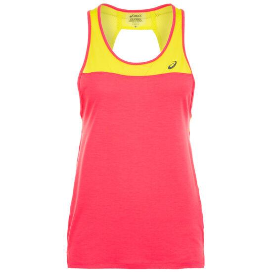Loose Strappy Trainingstop Damen, pink / neongelb, zoom bei OUTFITTER Online