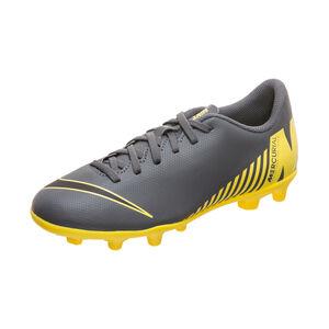 Mercurial Vapor XII Club MG Fußballschuh Kinder, dunkelgrau / gelb, zoom bei OUTFITTER Online