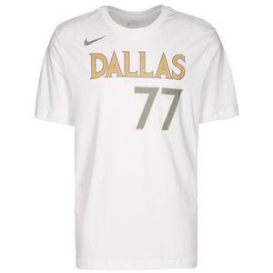 NBA Dallas Mavericks Luka Doncic City Edition Essential T-Shirt Herren, weiß / gold, zoom bei OUTFITTER Online