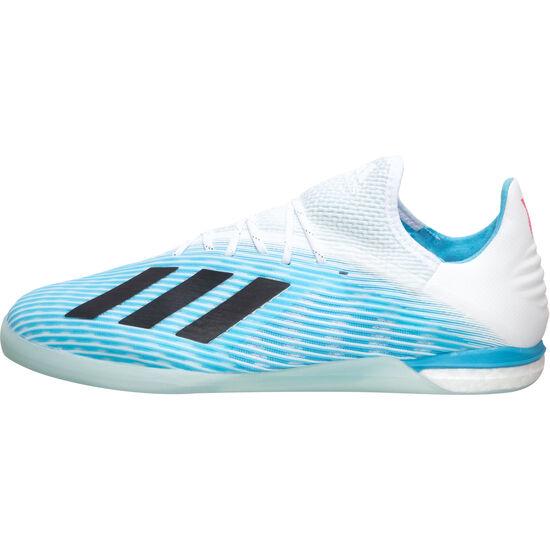 X 19.1 Indoor Fußballschuh Herren, hellblau / schwarz, zoom bei OUTFITTER Online