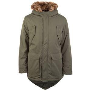 Hooded Faux Fur Parka Herren, oliv, zoom bei OUTFITTER Online