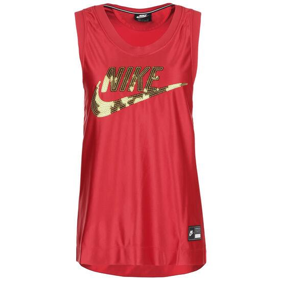 Jersey Dunk Tanktop Damen, rot / gold, zoom bei OUTFITTER Online