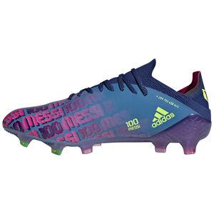 X Speedflow Messi.1 FG Fußballschuh Herren, blau / pink, zoom bei OUTFITTER Online