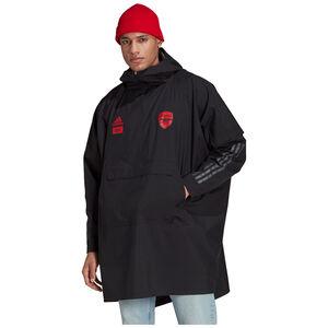 FC Arsenal X 424 Poncho Kapuzenjacke Herren, schwarz / rot, zoom bei OUTFITTER Online