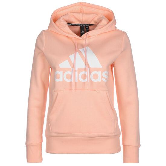 Badge Of Sport Fleece Kapuzenpullover Damen, rosa / weiß, zoom bei OUTFITTER Online