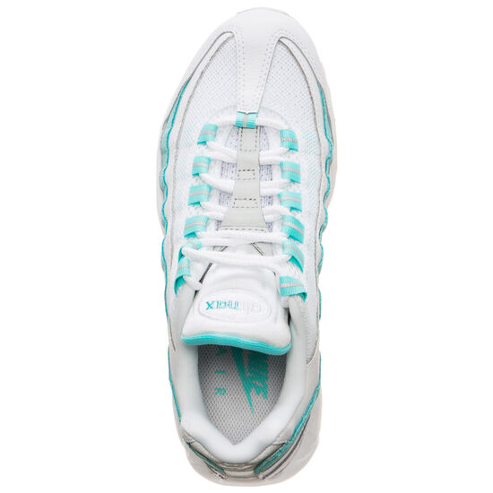 Air Max 95 Sneaker Damen, weiß / türkis, zoom bei OUTFITTER Online