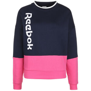 Essentials Logo Sweatshirt Damen, dunkelblau / pink, zoom bei OUTFITTER Online