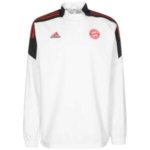 FC Bayern München Hybrid Trainingssweat Herren, weiß / rot, zoom bei OUTFITTER Online