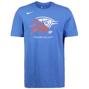 NBA Oklahoma City Thunder Dry Logo T-Shirt Herren, blau / rot, zoom bei OUTFITTER Online