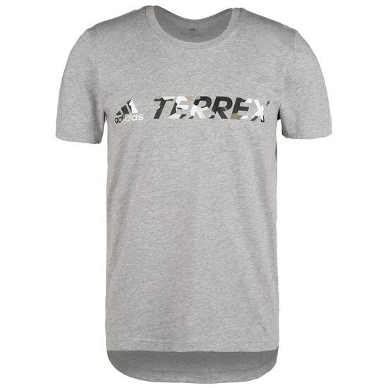 Terrex Logo Laufshirt Herren, grau, zoom bei OUTFITTER Online