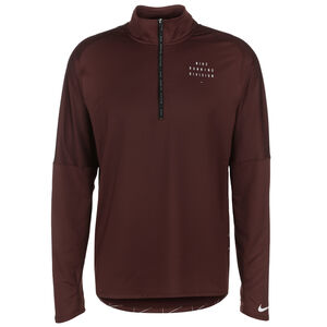 Run Division Element Graphic Laufsweat Herren, bordeaux / silber, zoom bei OUTFITTER Online