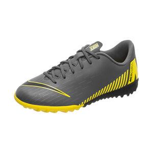 Mercurial VaporX XII Academy TF Fußballschuh Kinder, dunkelgrau / gelb, zoom bei OUTFITTER Online