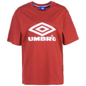 Boyfriend Fit Logo T-Shirt Damen, rot / weiß, zoom bei OUTFITTER Online