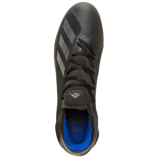X 18.3 Indoor Fußballschuh Herren, schwarz / blau, zoom bei OUTFITTER Online