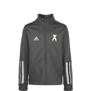 X Aeroready Football-Inspired Trainingsjacke Kinder, dunkelgrau, zoom bei OUTFITTER Online