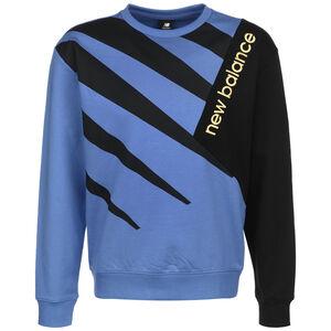 Athletics Village Fleece Crew Sweatshirt Herren, blau / schwarz, zoom bei OUTFITTER Online