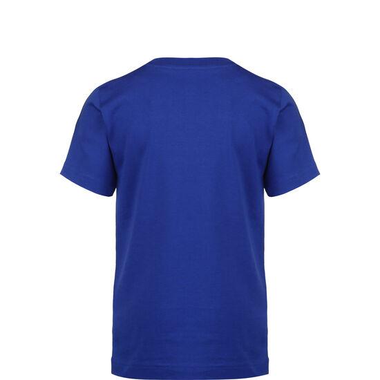 Essential 3 Stripes Trainingsshirt Kinder, blau / grün, zoom bei OUTFITTER Online