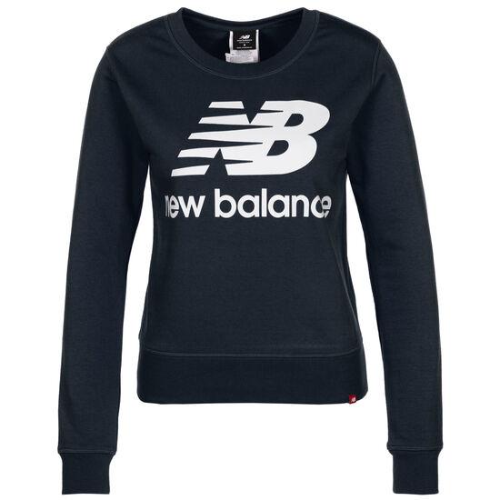 Essentials Crew Sweatshirt Damen, dunkelblau / weiß, zoom bei OUTFITTER Online