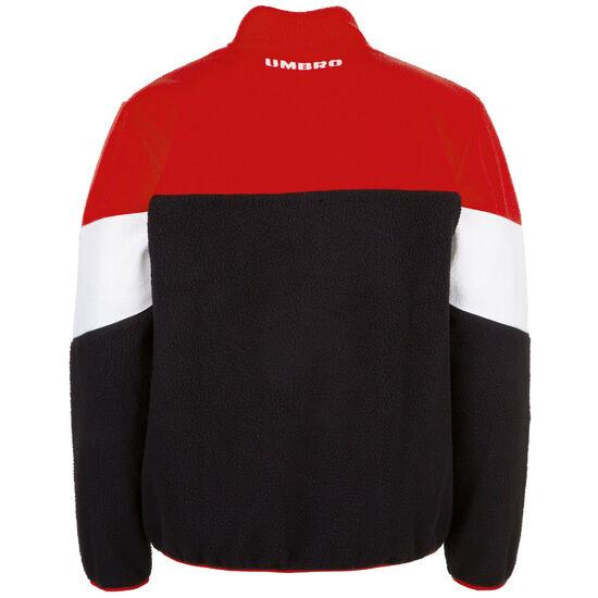 Resort Zip Polar Fleece Sweatshirt Herren, schwarz / rot, zoom bei OUTFITTER Online