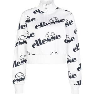 Ballino Fulmire 1/4 Zip Cropped Sweatshirt Damen, weiß / schwarz, zoom bei OUTFITTER Online