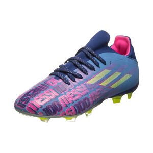 X Speedflow Messi.1 FG Fußballschuh Kinder, blau / pink, zoom bei OUTFITTER Online