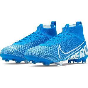 Mercurial Superfly VII Elite DF FG Fußballschuh Kinder, blau / weiß, zoom bei OUTFITTER Online